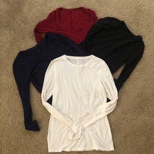 (4) lululemon long sleeves